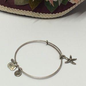 Alex & Ani Plus Energy Star Fish Charm Bracelet
